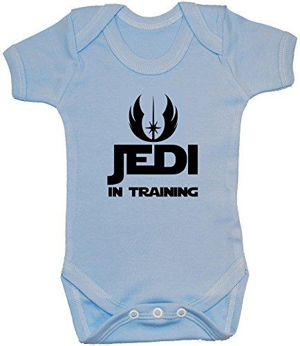 Acce Products Jedi en Entrenamiento Bodysuit/Romper/Chaleco/Camiseta - 0-3 Meses - Azul