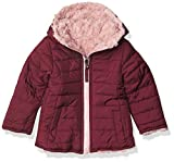 Limited Too Girls' Reversible Packable Puffer, Burgundy, 4