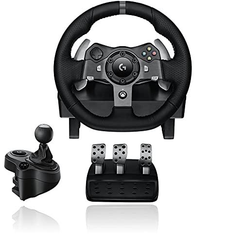 Logitech G920 Racing Lenkrad + Logitech Driving Force Shifter Schalthebel für G920 und G29