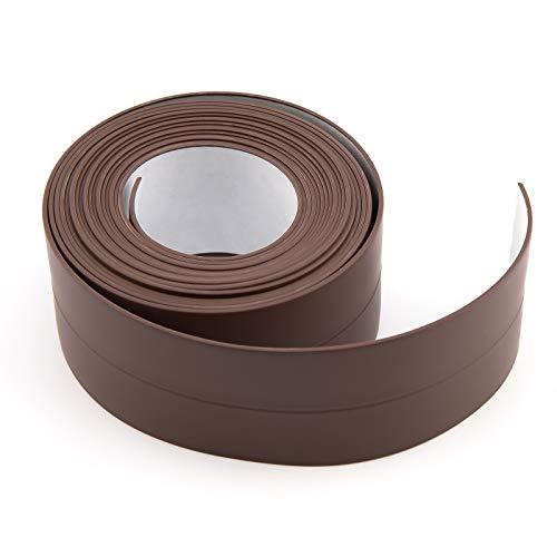 AIEX 328X3.8cm Dichtband Selbstklebend Wasserdicht PE Flexibles Wasserdichtes Dichtungsband, Perfekt für Küche, Bad, Badewanne, Toilette, Wandboden (Braun)