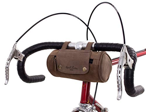 Gusti Fahrradtasche Leder Judith A. Gepäcktasche Lenkertasche Satteltasche Dunkelbraun Damen Herren Braun