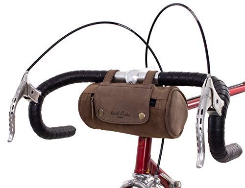 Gusti Fahrradtasche Leder Judith A. Gepäcktasche Lenkertasche Satteltasche Dunkelbraun Damen Herren...