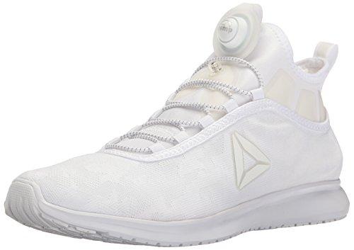 Reebok Men's Pump Plus Camo Running Shoe, White/White, 8 M US