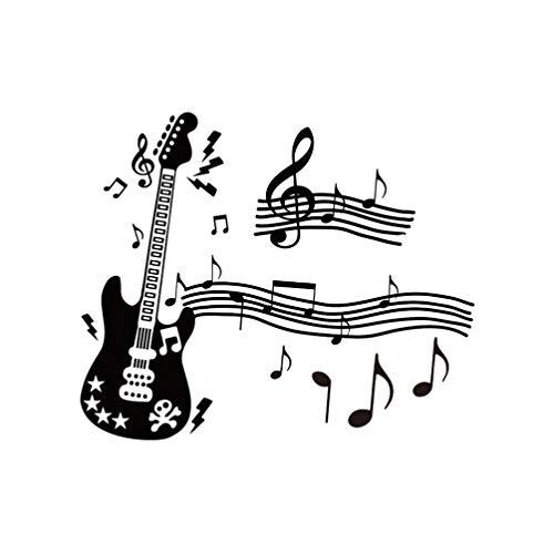 Adesivo de parede BesPORTBLE, notas musicais com decoração de parede de guitarra vinil não tóxico removível murais de arte