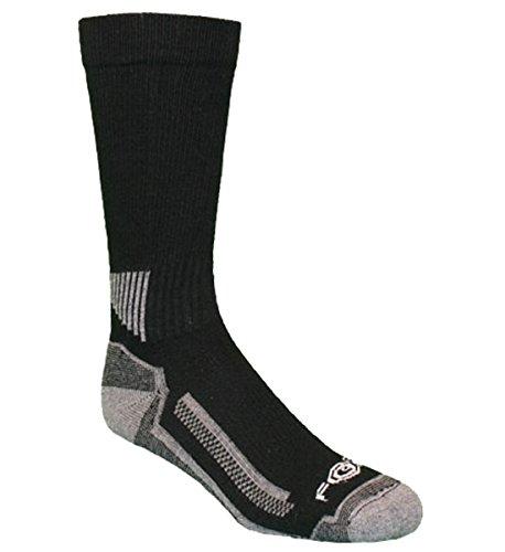Carhartt Force Performance Work Crew Sock (3-Pair) SOCKS, Black, L (Pack de 3) para Hombre