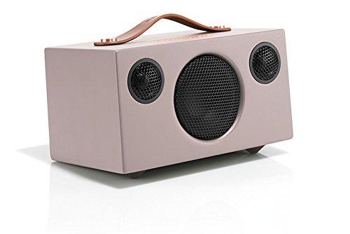 Audio Pro Addon T3 portabler Bluetooth Stereo-Lautsprecher (30h Akkulaufzeit, Echtholzgehäuse) Rosa