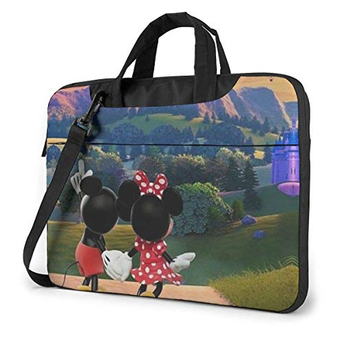 15.6 Inch Laptop Bag Hot Air Balloon Mickey and Minnie Laptop Briefcase Shoulder Messenger Bag Case Sleeve