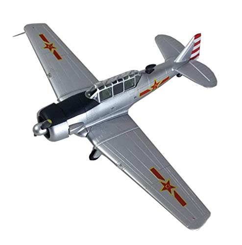 KAIGE 1/72 Escala de Combate Modelo de plástico, Militar Segunda Guerra Mundial PLAAF Texan T-6 Modelo, coleccionables for Adultos y Regalos, 6.9Inch X5.3Inch WKY