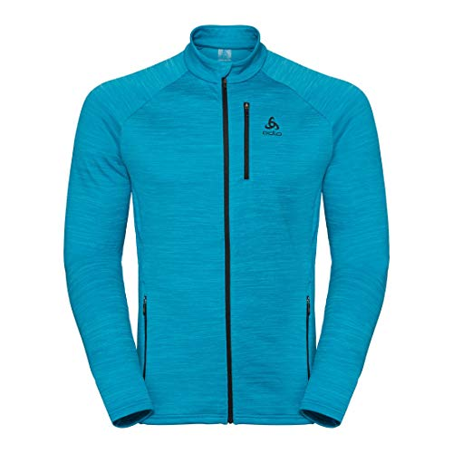 ODLO‿Mythen Midlayer Manches Longues Zip Full Zip Homme M Blue Jewel