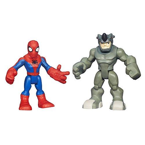 Playskool Heroes Marvel Super Hero Adventures Spiderman und Rhino Figuren
