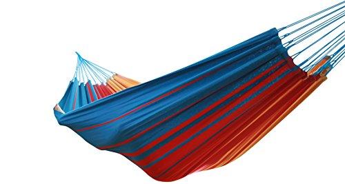MacaMex ma di 01102Amaca, Vida de la Luz–Original Brasiliana Doppia Amaca, 360x 160x 150cm, Turchese/Rosso/Giallo