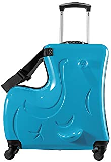 Suitcase kid suitcase kid luggage kid travel Fashionable appearance Rideable Funny suitcase Add fun to the journey kid gif...