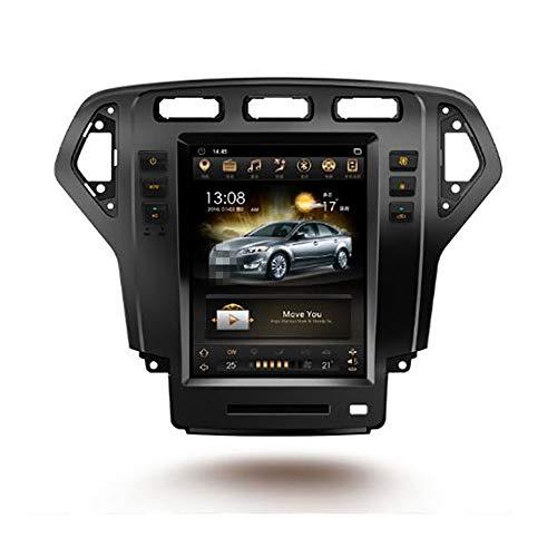 KJHGYU 10.4 \'\' Android 7.1 Tesla Vertical Screen 2 + 32G Autoradio GPS Multimedia Stereo Kompatibel Ford Mondeo/Fusion 2011 2012 2013,Schwarz