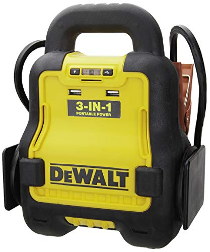 DEWALT DXAE20VBB Automotive Battery Booster and 12V Jump Starter with USB Power Station: Powered by Standard 20V MAX and FLEXVOLT Tool Batteries