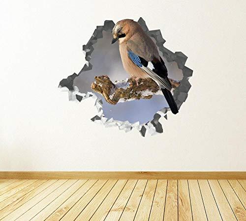 Wandtattoo Animal bird rest custom wall applique 3D wall stickers art-J80*120CM
