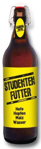Studenten Futter Pils Geschenk Bier 1 Liter Flasche mit Bügelverschluss