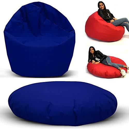 Sitzbag Sitzsack 2 in 1 Funktionen Styropor Füllung - In & Outdoor - Bean Bag Sitzkissen Bodenkissen Hocker Kinder Sitzsäcke Möbel Kissen Sessel Sofa