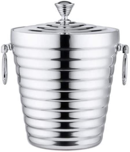 WJCCY Stainless Steel OFFicial Ice Bucket with Clamps - Insul Large-scale sale