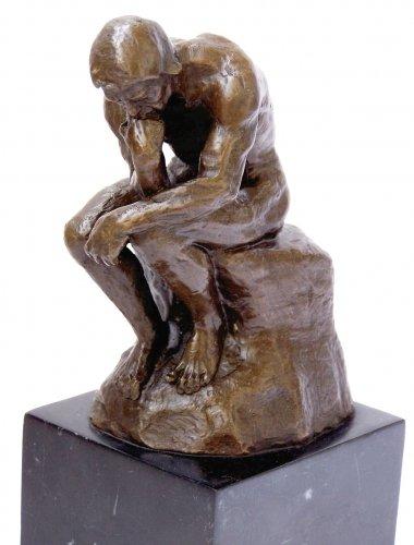 Kunst & Ambiente - Der Denker - Auguste Rodin Skulptur in Bronze - Bronzefigur - Statue - Bronzeplastik - Paris - Wohndeko Figur - Geschenk