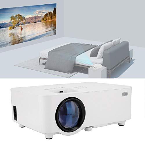 Spiegelprojector op scherm, draagbare Full HD 1920 x 1080P miniprojector, Home Theatre Movie Projector Draadloos scherm Share Beamer voor PowerPoint-presentatie (EU)