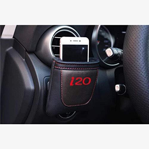Coche Salida de aire Stow ordenado del bolso de almacenamiento for Hyundai I20, cuero de la PU Colgando de almacenamiento caja for llaves del coche / Teléfonos móviles / Lentes / plumas, accesorios de