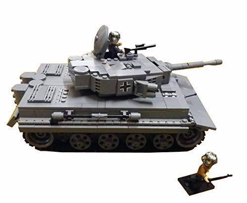 Modbrix ✚ 2462 Bausteine Panzer Tiger PzKpfw VI AUSF. E inkl. WW2 Soldaten Figuren ✚