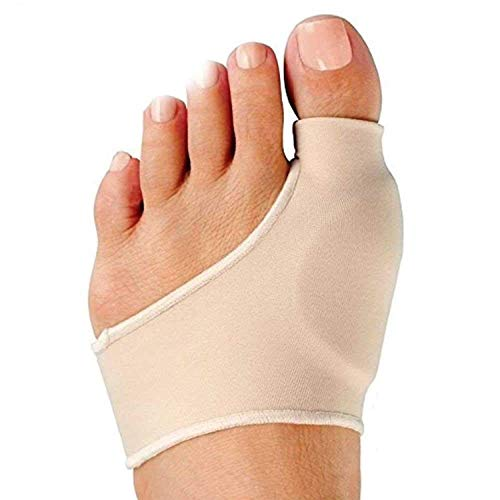 BUNION CORRECTOR AND BUNION RELIEF: Eases any bunion pain, irritation, calluses, blistering comfortable slip on gel cushion sleeve. Size Medium. EASY ON EASY OFF: Simply slide foot through hole and insert big toe in hole on top. Slide onto foot until...