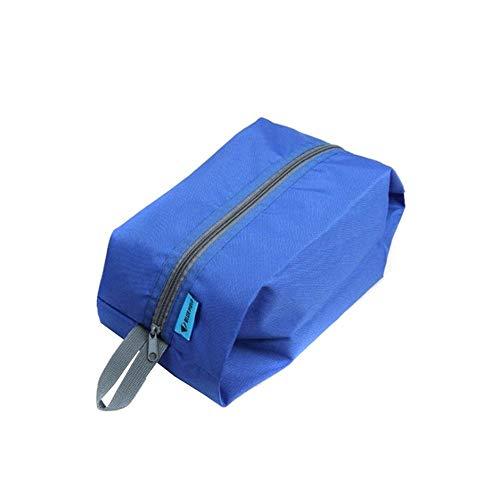 Tragbare wasserdichte Schuhbeutel Reisetasche Toilettenartikel Wäscheschuhbeutel Aufbewahrungstasche mit Reißverschluss Blau Lagerung Beutel