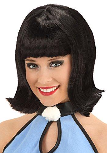 Fun Costumes Womens Deluxe Betty Rubble Wig Standard Black