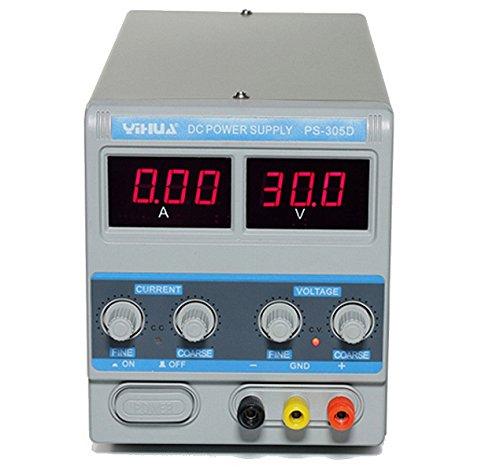 Fuente de alimentación estabilizada de banco ajustable 0-30Volts 5amperios