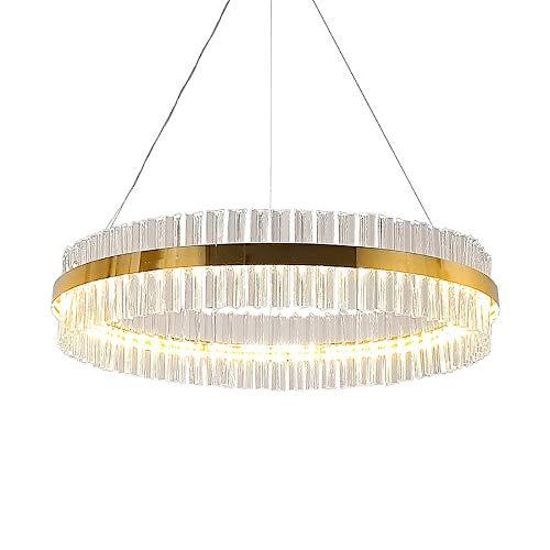 L.J.JZDY kroonluchter postmodern kroonluchter restaurant eenvoudig kamerglas lamp hoge temperatuur zand goudkleur kristallen kroonluchter hanglamp