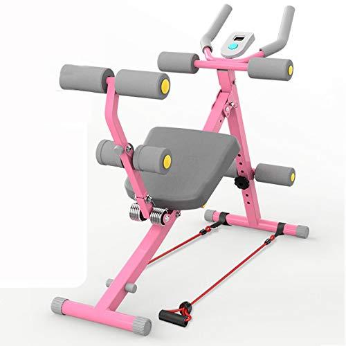 QQYYY Heimtrainer Klappbar Rückentrainer Bauchtrainer Core Trainer Hyperextension AB Trainer LED Display + Widerstandsbänder
