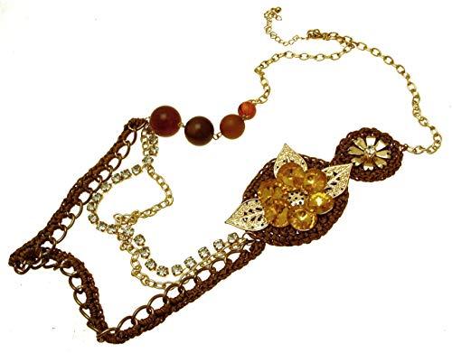 fashion con ámbar traje de neopreno para mujer collar con colgante en forma de colores y diseño - crochet 114149
