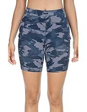 """QUEENIEKE 6"""" Inseam Power Flex Pantalones Cortos para Correr con 3 Bolsillos y Cintura Alta para Mujeres de Entrenacimiento"""