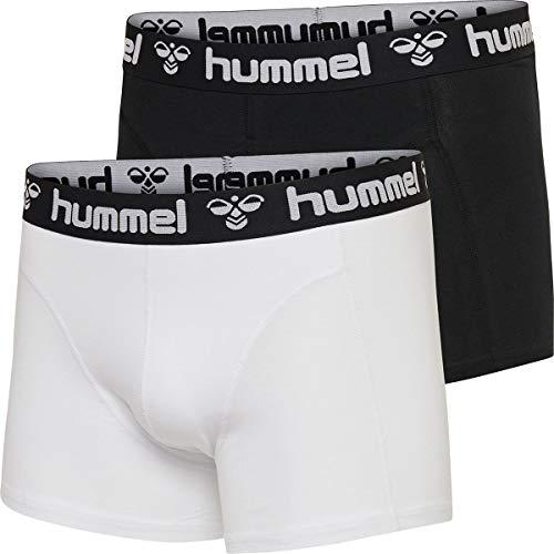 hummel Herren HMLMARS 2 Boxers, Schwarz/Weiß, L