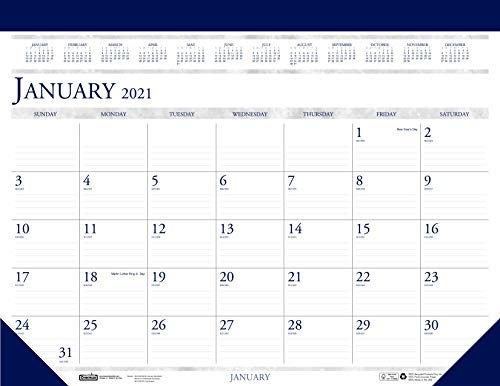 House of Doolittle 2021 Monthly Desk Pad Calendar, Classic, 22 x 17 Inches, January - December (HOD150-21)