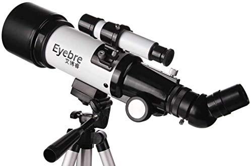 Telescopio de 50 mm de abertura de 600 mm Distancia focal del telescopio portátil con trípode ajustable y Buscador Ámbito 30X 48X refractor for principiantes y niños BBGSFDC
