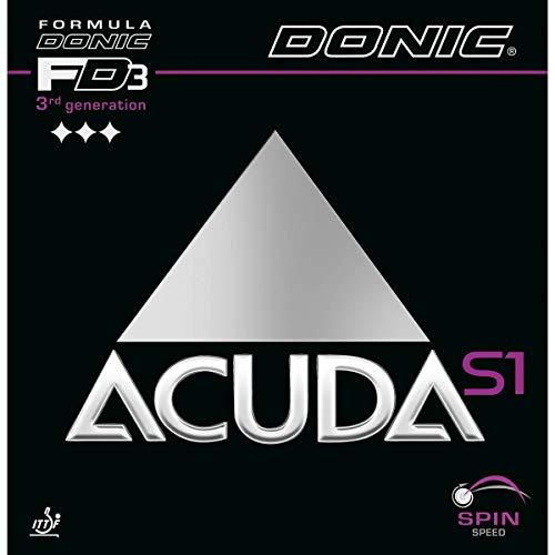 DONIC Acuda S1 - Goma para tenis de mesa, color rojo