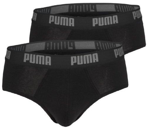 4 er Pack Puma Brief Basic Men Herren Pant Unterwäsche Unterhose (200 - black, S)