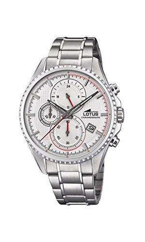 Lotus Watches Reloj Cronógrafo para Hombre de Cuarzo con Correa en Acero Inoxidable 18526/1