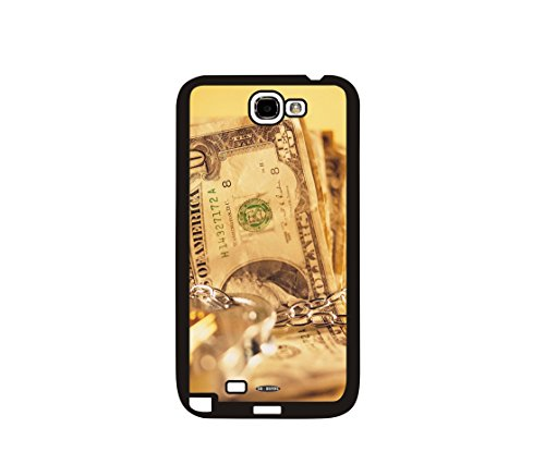 DH-hoping (TM) Cell phone Case for Samsung GALAXY Note 2 N7100 Impackt Combo Soft Silicon Rubber Hybrid Hard Pc & Metal Aluminum Protective Case with Customizatied The us currency Luxurious Pattern (dollar-04)