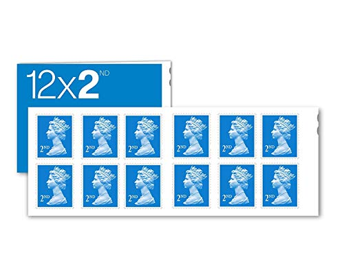 12 x 2nd Class Royal Mail Postage Stamps (Design May Vary) Self Adhesive