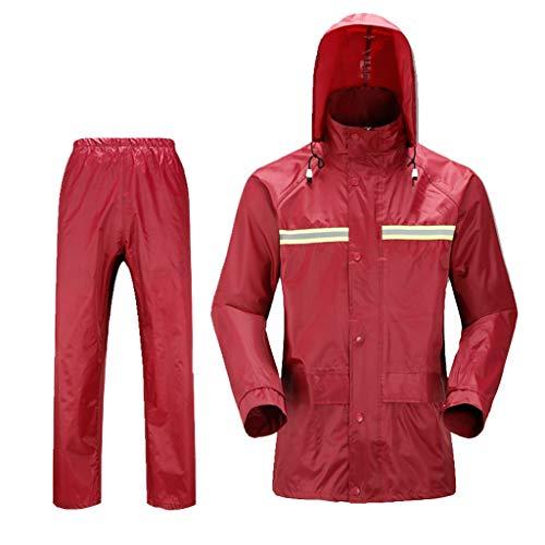 Conjunto de pantalones impermeables Conjunto rompevientos Ropa impermeable para lluvia Chaqueta impermeable con capucha Cálido Secado rápido para adultos para exteriores Ciclismo alpinismo