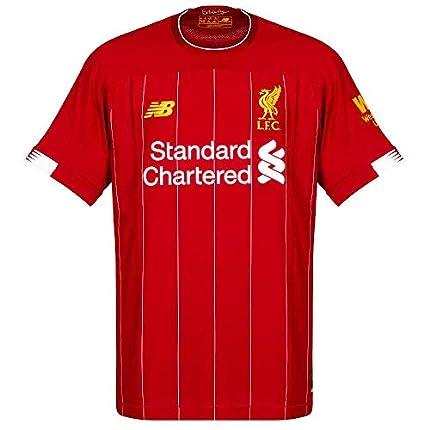 New Balance - Camiseta para Hombre Oficial del Liverpool FC 2019/20, Hombre, S/s Top, MT930000, Rojo, S