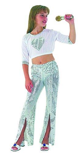 Boland Déguisement Petite Diva Disco Taille : 7/9 ans (120 à 132 cm)