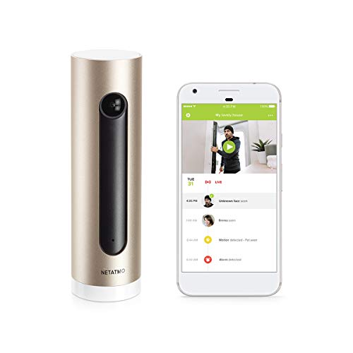 Smart Indoor Security Camera for home surveillance, Wi-Fi connected, CCTV camera with night vision and smart alerts - Netatmo Welcome