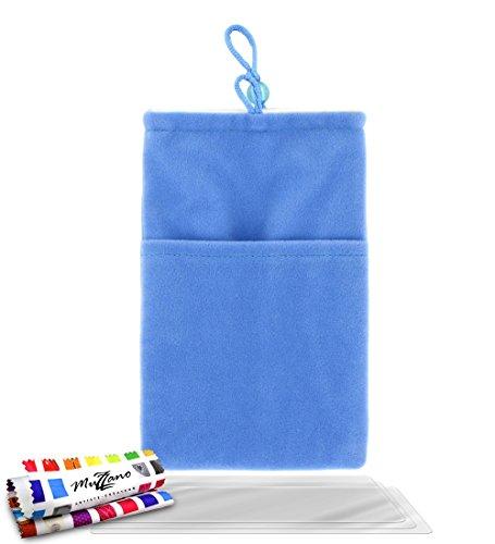 MUZZANO Original Cocoon, con 3 pellicole di Protezione Schermo Ultra Trasparente per Samsung Galaxy S3 Mini I8190, Colore: Blu