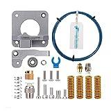 HANLILI kasu PTFE Tubería XS Serie 1M + MK8 Kit de extrusor de Metal Gris + 4pcs Cama Caliente Springs Springs Fit for CREEALIDE Piezas DE Impresora 3D