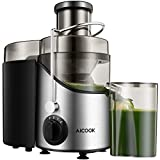 Juicer Juice Extractor, Aicook 2019 Upgrade Centrifugal Juicer 3'' Wide Mouth, 3 Speed for Soft and...