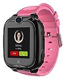 XPLORA XGO 2 - Teléfono Reloj 4G para niños (SIM no incluida) - Llamadas, Mensajes, Modo Colegio, SOS, GPS, Cámara, Linterna y Podómetro - Incluye 2 años de garantía (Rosa)